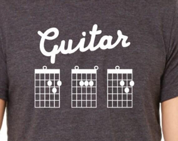 Guitar Dad T-Shirt. Dad Guitar Shirt. Guitar Chord Shirt. Dad Gift. Father's Day Gift. Dad Shirt. Guitar Tab Shirt.