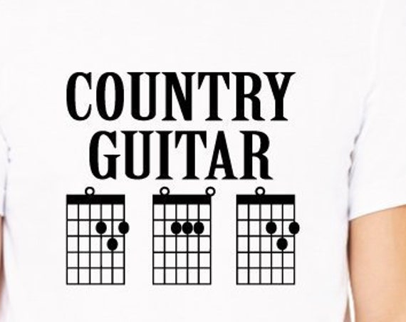 Country Guitar Dad Shirt. Dad Guitar Chords Shirt. Country Music Dad. Guitar Dad T-Shirt. Father's Day Gift. Dad Shirt.