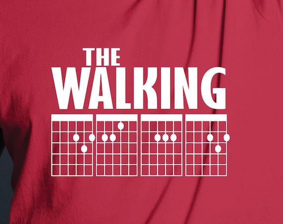 The Walking DEAD Guitar Chords Shirt. TV T-Shirt. Guitar Chord Shirt. Great Gift for the Walking Dead Guitar Player