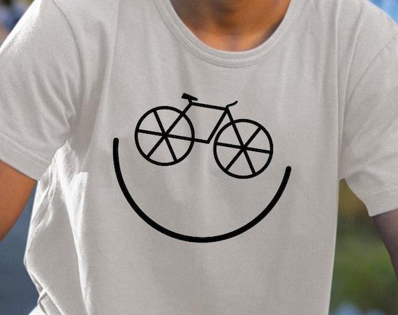 Smiley Bike, Biker Shirt, Bicycle Gift, Cycling Shirt, Biking Shirt, Cycling Gift, Mountain Bike, BMX Gift, Trail Rider.