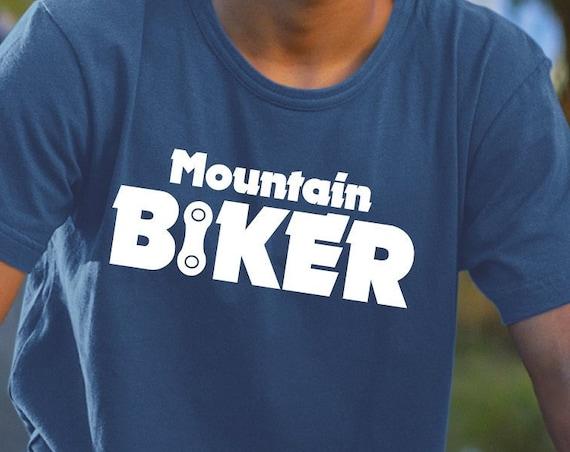 Mountain Biker, Biker Shirt, Bicycle Gift, Cycling Shirt, Biking Shirt, Cycling Gift, Mountain Bike, BMX Gift, Trail Rider.