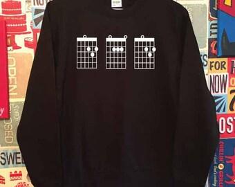 Dad Guitar Chords Sweatshirt. Guitar Dad Sweatshirt. Dad Sweatshirt. Dad Gift. Father's Day Sweater.