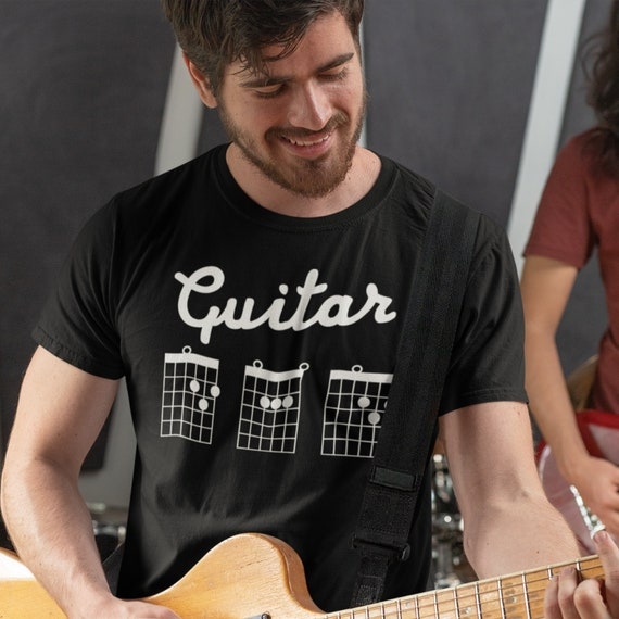 Guitar Dad T Shirt Dad Guitar Shirt Guitar Chord Shirt Dad Etsy