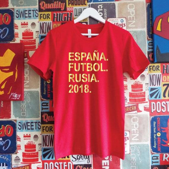 España Futbol Rusia 2018 Shirt. Spain Football World Cup Support Shirt. Spanish Football Shirt.