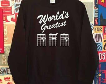 World's Greatest Dad Sweatshirt. Guitar Dad Sweatshirt. Guitar Sweatshirt. Dad Gift. Dad Sweatshirt. Best Dad Sweater. Father's Day Gift.