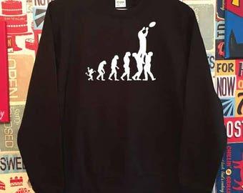 Evolution Rugby Lineout Sweatshirt. Unisex Rugby Sweatshirt. Rugby World Cup. Rugby Gift. Rugby Fan Clothes. Rugby Evolution Sweatshirt.