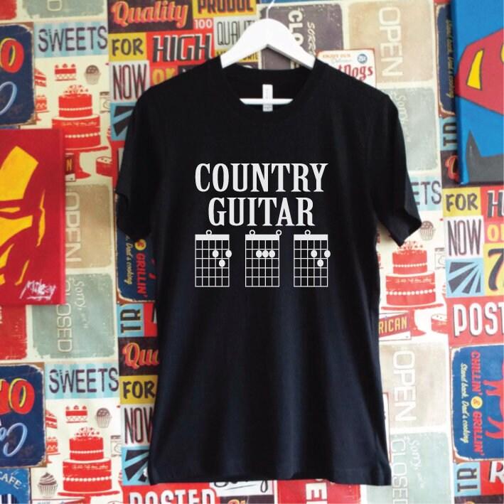 Country Guitar Dad Shirt. Dad Guitar Chords Shirt. Country Music Dad ...