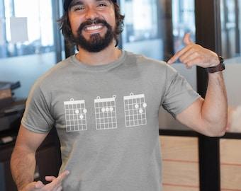Dad Guitar Chords Shirt, Guitar Dad Shirt, Dad Shirt, Guitarist Shirt, Gifts For Dad, Dad Gifts, Guitar Player, Guitar Tab Shirt, Guitar Tee
