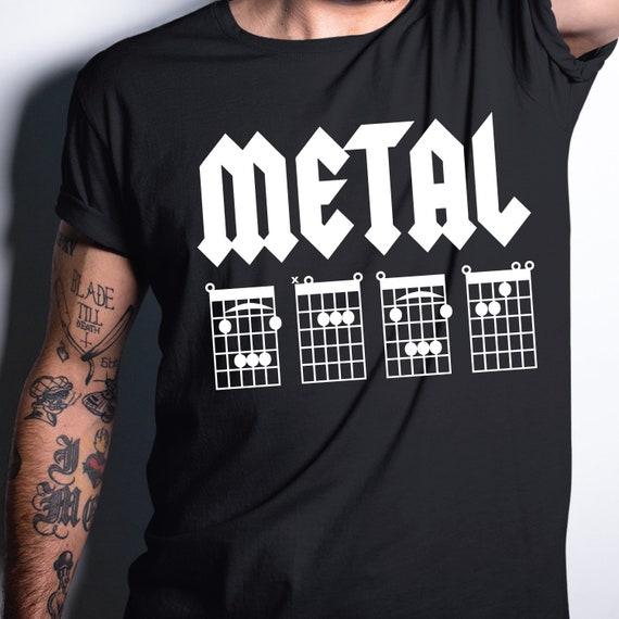 Metal BABE Guitar Chord T-Shirt. Guitar Chord Shirt. Guitar Tab Shirt. Girlfriend, Fiance, Gift or Present
