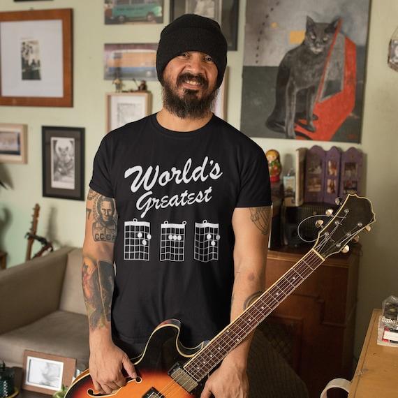 Worlds Greatest Dad Guitar Chords Shirt Guitar Dad Shirt Etsy