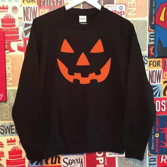 Halloween Pumpkin Face Sweatshirt.