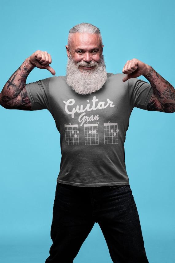 Guitar Grandad Shirt Guitar Chords Tshirt Granpa Shirt Dad Etsy