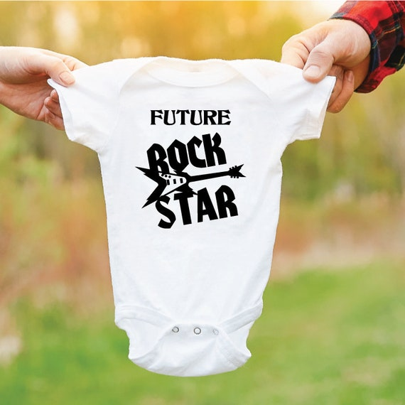 Future Rock Star. Baby Grow. Baby Outfit. Newborn Gift. Funny Baby Bodysuit. Gift For New Parents. Rock Guitar Baby.
