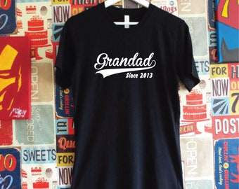 Custom Grandad Since Shirt. Personalised with Year. Custom T-Shirt. Grandad Gift. Grandpa Shirt. Grandfather Shirt. Granddad Shirt.