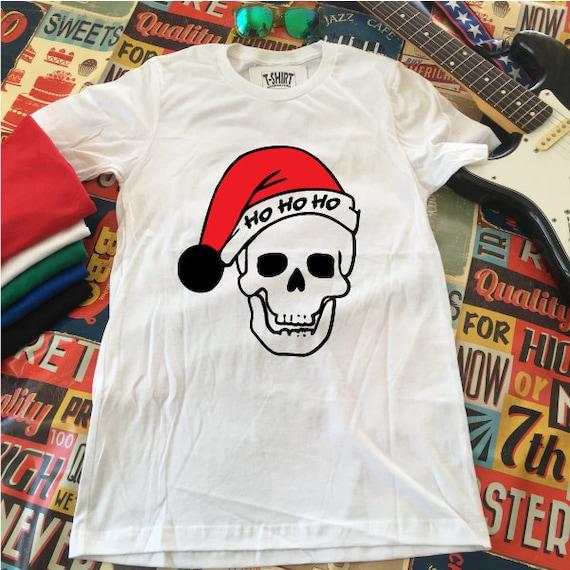 Santa Skull Christmas T-Shirt.