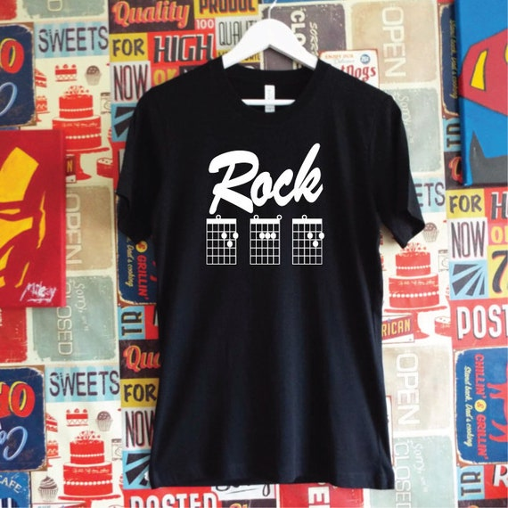 Rock Dad T-Shirt. Guitar Chord Shirt. Dad Guitar Shirt.  Dad Guitar Tab Shirt. Rock Guitar Dad Gift. Father's Day Gift.