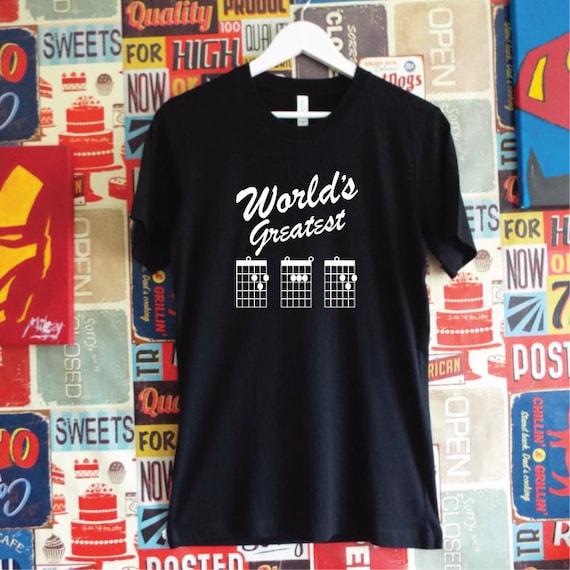 World's Greatest Dad T-Shirt. Guitar Dad Shirt. Father's Day Gift. Best Dad Guitar Shirt. Dad Gift. Guitarist Chord Tab Shirt.