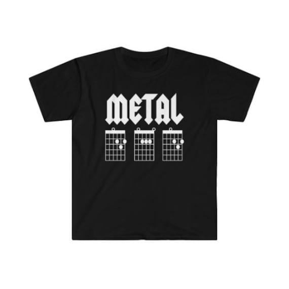 Metal Dad Shirt Guitar Chords Tshirt Guitar Dad Shirt Dad Etsy