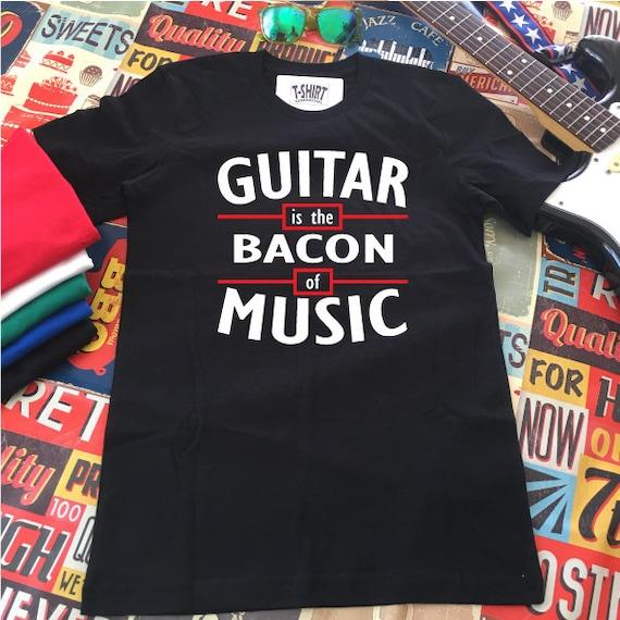 Guitar is the Bacon of Music Shirt. Run DMC Style Guitar Shirt.