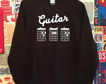 Guitar Dad Sweatshirt. Guitar Chords Dad Sweater. Dad Gift. Father's Day Gift. Dad Guitar Chords Jumper.