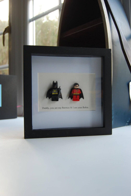 Batman & Robin Rahmen Superhelden Papa Geburtstag   Etsy