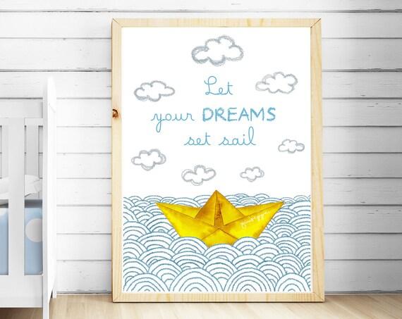 BARCO PAPEL - Deja zarpar tus sueños / PAPER Boat - Let your dreams set sail