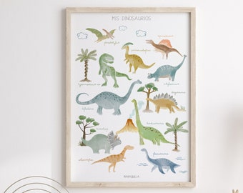 Mis dinosaurios Illustration - SPANISH version