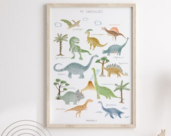 My dinosaurs Illustration - ENGLISH version