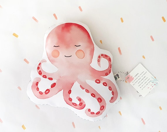Cojín ilustrado Pulpo FERMÍN / Fermin Octopus cushion for newborns