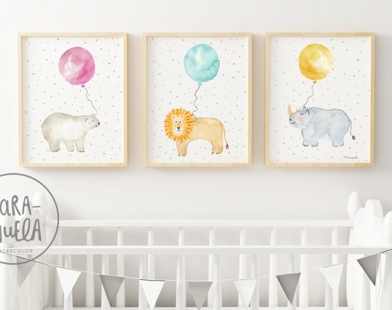 Set Animales con globos - Oso Polar