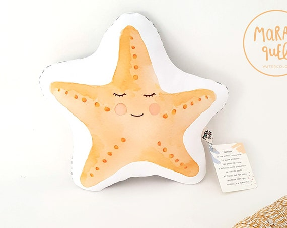 Cojín ilustrado Estrella MARINA/ Marina Starfish cushion for baby
