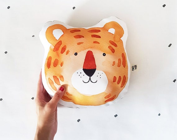 Cojín ilustrado Tigre JOAQUÍN / Joaquín Tiger cushion for nursery decor