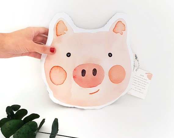 Cojín ilustrado Cerdito ANTÓN / Antón Pig - Throw Pillow for babies