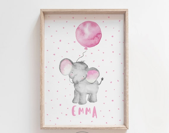 Elefante globo rosa/ ELEPHANT with PINK balloon