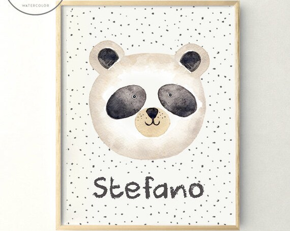 Lámina Oso Panda / Watercolor Panda Bear