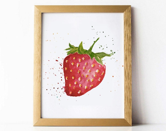 STRAWBERRY Illustration Watercolor.