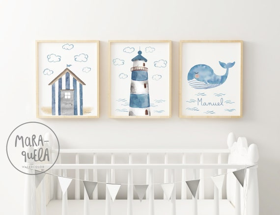 Set FARO y casita de playa tonos azules / Lighthouse and beach house