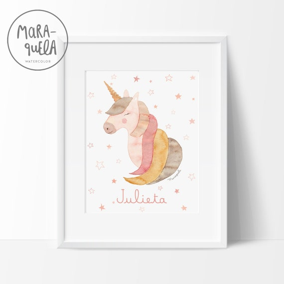 Lámina UNICORNIO / UNICORN illustration