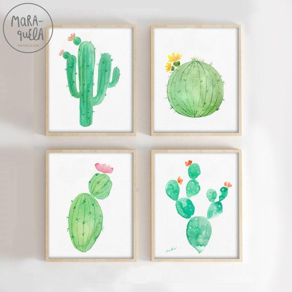 SET Cactus - Acuarelas / Cactus Watercolor Set