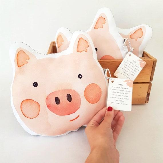 Cojín ilustrado Cerdito ANTÓN / Antón Pig - Throw Pillow for babies