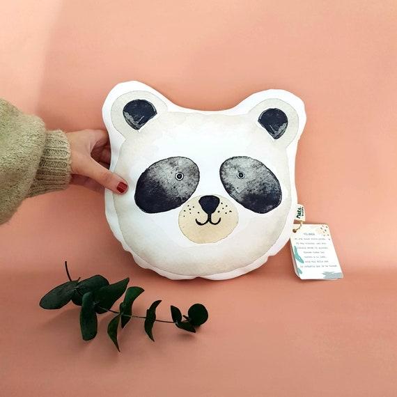 Cojín ilustrado Oso panda YOLANDA / Yolanda panda bear cushion