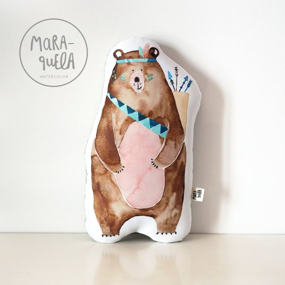 Cojín decorativo OSO Pardo / BEAR Throw Pillow