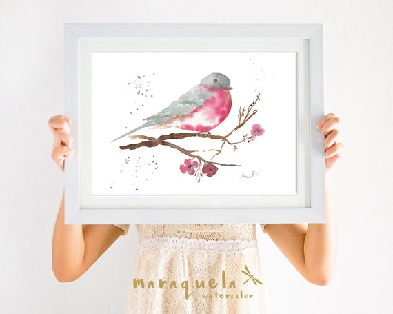 Pájaro IV, Lámina Acuarela / BIRD IV, illustration Watercolor