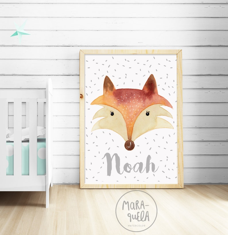 Custom FOX  For kids Baby Boy baby girl nursery image 0