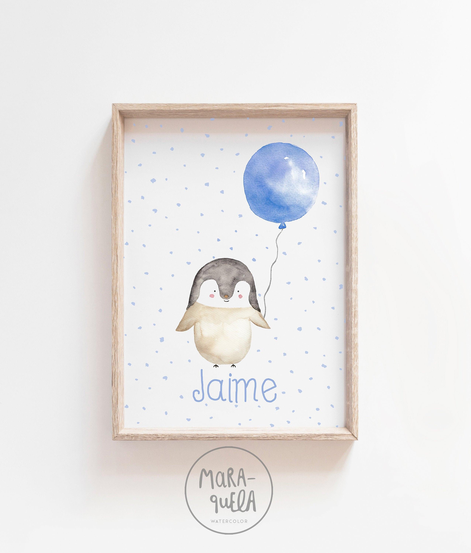 penguin watercolor penguin blue penguin baby animal print baby room wall art nursery wall art baby penguin little blue penguin