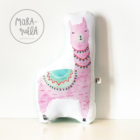Cojín LLAMA Rosa y Mint / Mint and Pink LLAMA Cushion