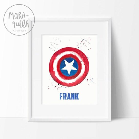 Lámina Escudo Capitão América / Captain America shield