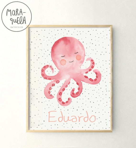 Lámina Pulpo / Watercolor Octopus print