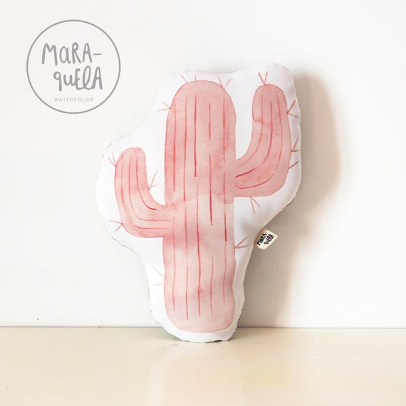 Cojín CACTUS Rosa y Gris / Pink CACTUS Throw Pillow