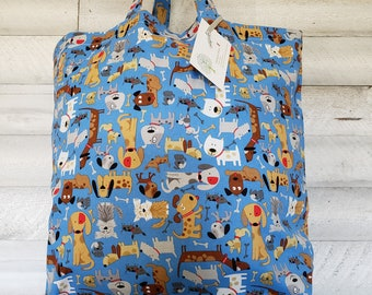 CRAZY DOG LADY TOTE MANY COLOURS GLITTER! SHOPPING BAG